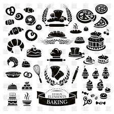 Set of bakery icons Royalty Free Vector Clip Art
