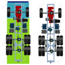 100 Truck Suspension Top View Illustration Royalty Free Cliparts