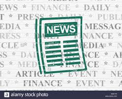 News Concept Newspaper On Wall Background