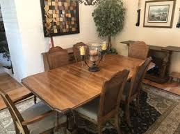 11 Piece Dining Set Table Custom Pad 6 Chairs Server Cabinet