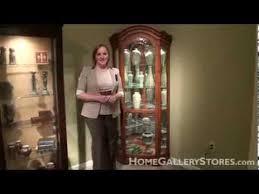 barrington oak corner curio cabinet by philip reinisch home