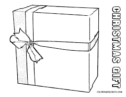 Coloring Picture Christmas Gift Wrapped Package At YesColoring