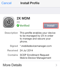 KB Parallels Enroll an iPhone or iPad with Mobile Device Manager