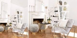 stylische wohnzimmer deko ein trendiger samtstuhl