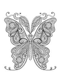 Animal Coloring Pages For Adults Best Kids Butterfly Pdf