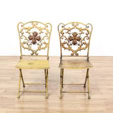 Pair Of Yellow Shabby Chic Metal Folding Chairs | Loveseat ... Pair Set Of Two Folding Garden Outdoor Chairs Painted Shabby Chic Wooden Solid Wood Blue Grey In Mottram Manchester Gumtree Vintage Frostbrand Weathered Bluebirds And Roses Stool By 1970s Ding Table 3 Pieces Thrift Shop Childs Metal Chair Christmas Pine Peter Corvallis Productions Doll Size High Chair Shabby Chic Bistro Metal Garden Folding Patio Table White Banquet Buy Chairwhite Wedding Chairsbanquet Hall Product On Alibacom A Of Cute Sold Labyrinth Tasures