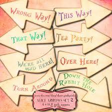 Shabby Chic Wedding Decor Pinterest by Alice Arrows Set 2 Alice In Wonderland Party Decoration Shabby