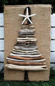 Driftwood Christmas Tree Decoration