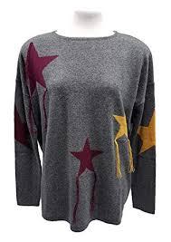 Buena Vista Emilie Cashmere Pullover Damenpullover Oversize Grey Stars L