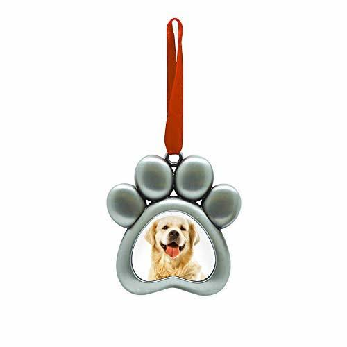 Pearhead Pawprint Metal Ornament