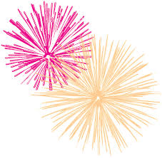 Fireworks clipart new year s Pencil and in color fireworks