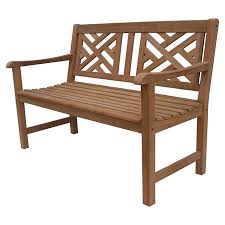 Artfully Crafted Of Teak Wood This Charming Indoor Outdoor Bench Brings Rustic Style To Your Veranda Or Sunroom Product BenchConstruction Material
