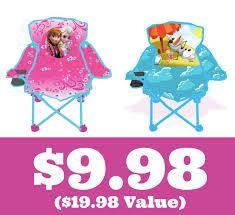 walmart 9 98 frozen fold n go chair 19 98 value