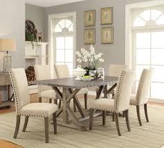 Coaster Webber 7 Piece Nailhead Trim Dining Table Chair Set