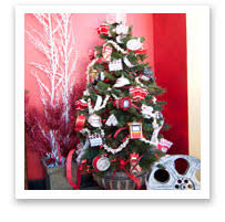 Decorating With Themed Christmas Ornament Displays
