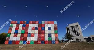 100 Kansas City Shipping Letters USA Spelled Out On Shipping Containers Editorial