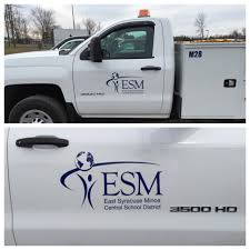 We Did The Logo On ESM's New Truck In Cut Vinyl! Call Us At 315-627 ...