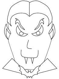 Halloween Evil Vampire Free Coloring Page O Holidays