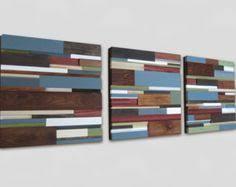 Reclaimed Wood Art Wall Rustic Home Decor