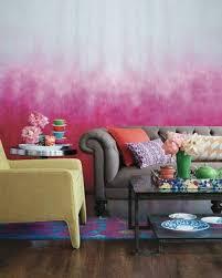 wohnzimmer wandgestaltung pink romantisch rosa vintage