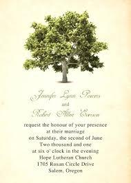 Rustic Tree Wedding Invitations Online Oak Invitation