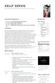 Public Relations Intern Resume Samples