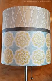 How To Makeover A Plain Lampshade With Metallic Paints