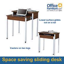 Techni Mobili Desk W Retractable Table by Techni Mobili Furniture Officefurniture Com
