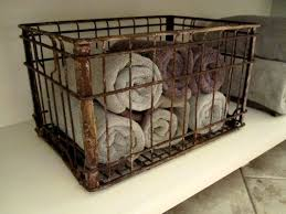 Vintage Borden Milk Crate For The Bathroom