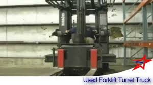 100 Turret Truck USED FORKLIFT TURRET Narrow Aisle Stocking Truck YouTube