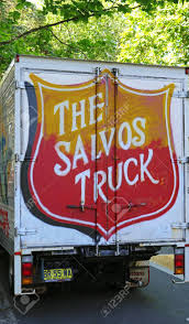 100 Salvation Army Truck Sydney Australia October 17 2017 Donations