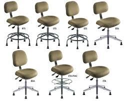 ERGONOMIC STANDARD SERIES CHAIRS, Series: ETA-FFAC, Upholstery: Black  Vinyl, Seat Height Adj.: 17-22