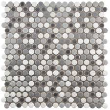 Home Depot Merola Penny Tile by 42 Best Bathroom Images On Pinterest Hex Tile Black Hexagon