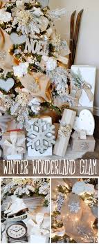Winter Wonderland Glam Christmas Tree Designed By Toni Roberts Of Design Dazzle Snow Tipped Branches