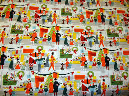 I Was Pretty Excited To See This Alexander Henry Fabric Called Merry Main Street It Captures That Vintage Feel Of Old Fashioned Store Windows All Dressed