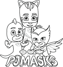Coloring Pages Of Pj Masks Black And White Copy Gecko Ma