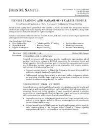 Personal Trainer Resumes Samples Fitness Resume Example Examples And