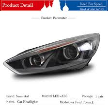 Car Headlights For Ford Focus 3 sedan Hatchback 2015 2016 2017 LED