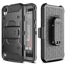 HTC Heavy Duty Black Belt Clip Holster Kickstand Phone Case All Models