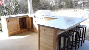 Diy Modern Outdoor Kitchen And Bar Builds Ep 21 Youtube With Decor Ideas On A Budget