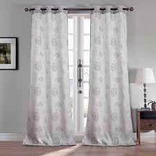 Sheer Curtain Panels With Grommets by Winston Porter Barberton Jacquard Nature Floral Grommet Semi Sheer