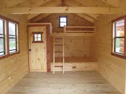 Timbernest Loft Bed by 19 Tuff Shed Barn Deluxe Getaway Cabins Pine Creek