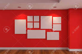 100 Decorated Wall Empty Interior Room Gallery The Picture On The Red