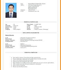 Gallery Of Sample Personal Information In Resume
