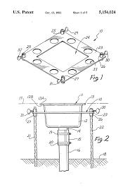 patent us5154024 floor sink drain installation method and