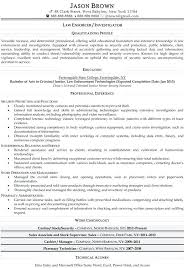 Law Enforcement Resume Templates Enforcer Example A Police Officer Template Free