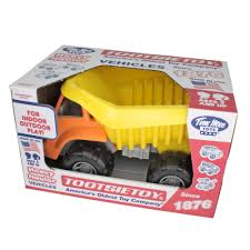 TimMee Big Plastic Dump Truck Orange Cab & Yellow Dump 15in – TimMeeUSA
