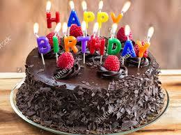 Chocolate Birthday Cake Template