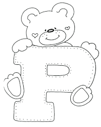 Bear Free Alphabet Coloring Pages Letter P Kindergarten To Print Printable Pdf Full Size