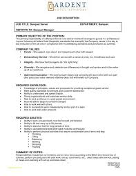 Banquet Server Job Description For Resume Great Medical Billing Assistant And Summary